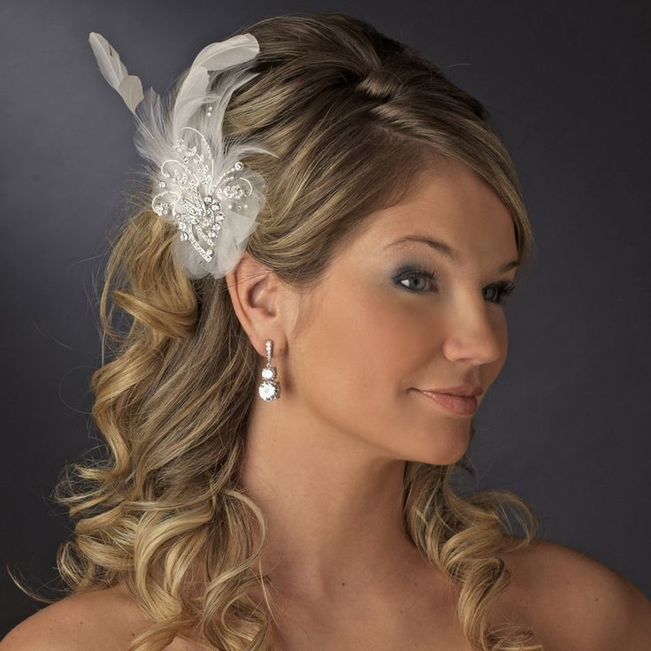 Wedding Guest Hairstyle With Feather Fascinator