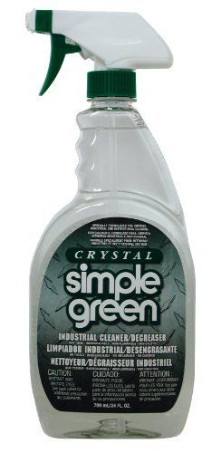 Simple Green 19024 Crystal Industrial Cleaner/Degreaser, 24oz Trigger Spray by Simple Green. Save 4 Off!. $10.08. Crystal Simple Green is formulated for critical cleaning applications that demand a fragrance-free solution. It is a highly effective, concentrated, all-purpose degreaser and cleaner. Because crystal Simple Green is fragrance-free, color-free and has high rinsibility, it is an ideal and effective degreaser/cleaner for use in many industries. Where to use: ideal for industri...