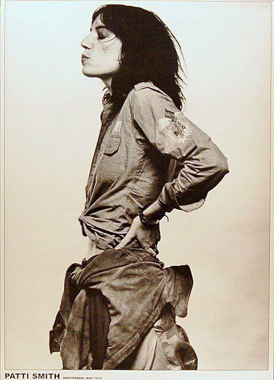 Patti Smith Amsterdam 1976 24x33 Poster – BananaRoad