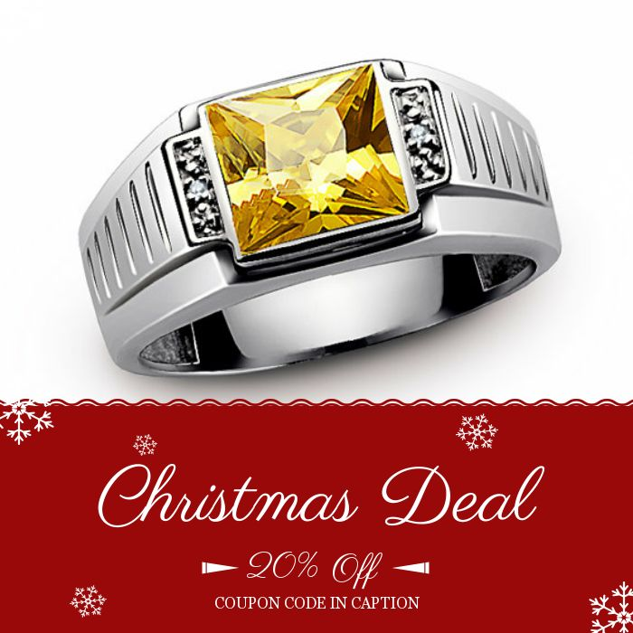 HOLIDAY SALE! 20% OFF on our Entire Store! Click here to avail coupon: https://www.etsy.com/shop/ATAjewels?utm_source=Pinterest&utm_medium=Orangetwig_Marketing&utm_campaign=Coupon%20Code Coupon Code: XMAS20.   Expiry: 16-Dec-2016.   #christmasgifts #mensaccessories #bestgiftever #etsygifts #giftforher #holidaygifts #couponcode #xmasgifts #jewelrysale #giftforhim #mensring #etsypromo #xmassale #etsycouponcode #giftforbf #mensjewelry #mensstyle