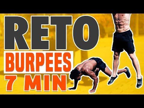 Rutina: 40seg Burpees completos + 20seg Descanso. 7 repeticiones.