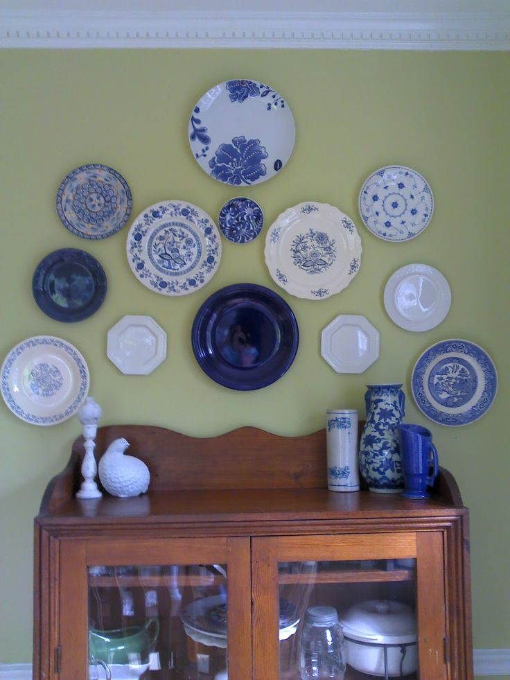 I have a blue and white plate collection. :)