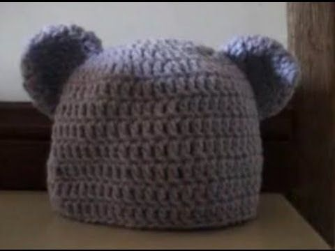 Crochet Baby to Adult Size Beanie with Bear Ears - Part 1 of 3  Best Pattern So Far....