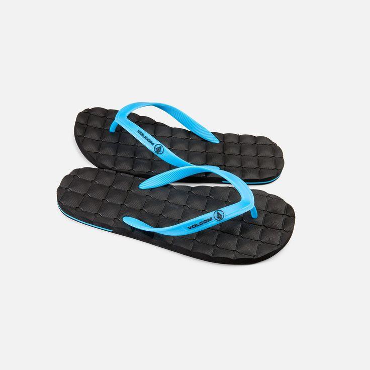 Volcom Recliner Rubber Sandal Cyan V0811511 CYN