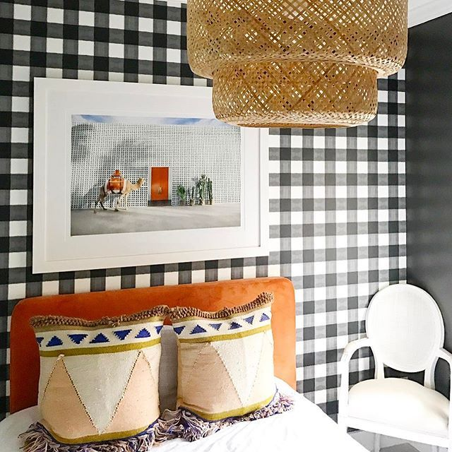Gingham Wallpaper by Katie Kime