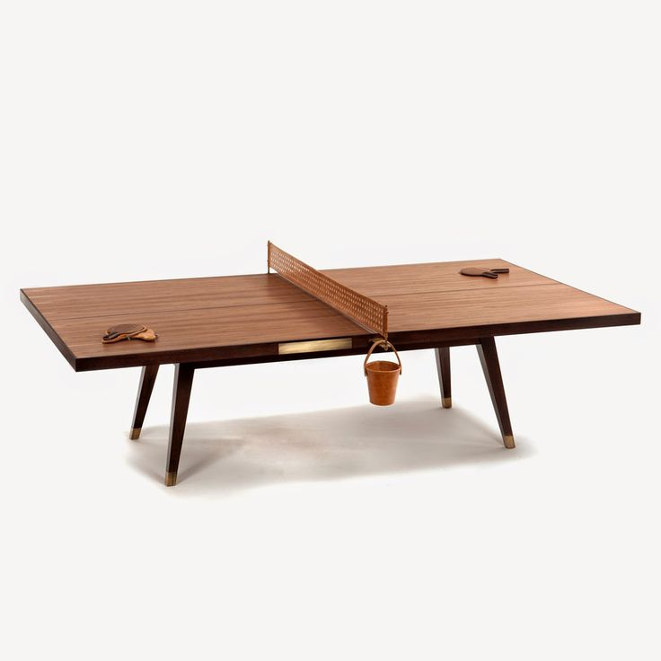 designed by etel this wooden ping pong table is made from walnut brass - Ping Pong Tables For Sale