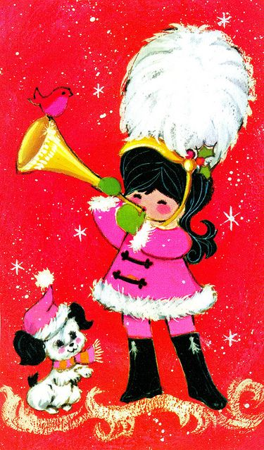 Vintage Christmas Card | Flickr - Photo Sharing! *1500 free paper dolls for Christmas gifts Arielle Gabriels The International Paper Doll Board also free Asian paper dolls at The China Adventures of Arielle Gabriel *