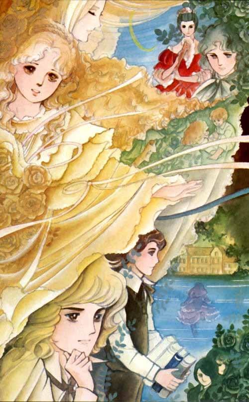 Original pinner: Moto Hagio, my favorite manga-ka. This is from Po no Ichizoku (The House of Poe or The Family Poe)