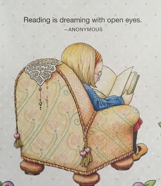 Reading Is Dreaming -Mary Engelbreit Artwork Magnet