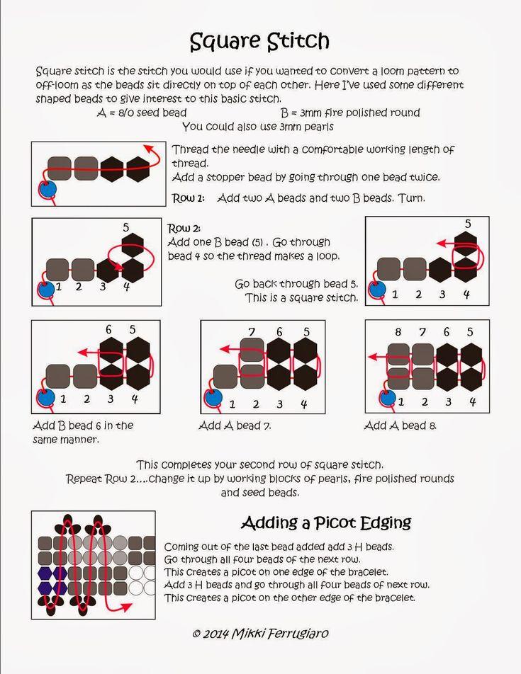 Bead Mavens: Back to Basics : Square Stitch