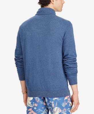 Polo Ralph Lauren Men's Big & Tall Half-Zip Pullover - Watch Hill Blue Heather 4XB