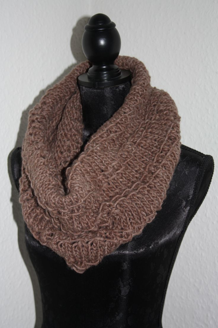Homemade Chunky Bamboo Knit Tube Scarf