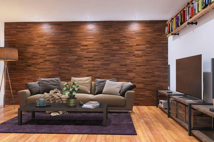 Mosaic wood wall panels