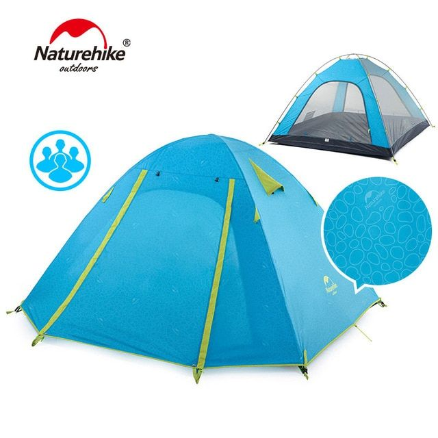 Naturehike P Series Classic Camping Tent 210t Fabric For 4 Persons