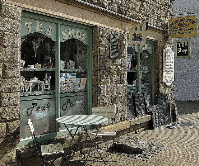 Tea for two please - the village of Eyam in the Peak District, Derbyshire  England