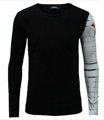 camisetas marvel heróis capitão américa soldado invernal