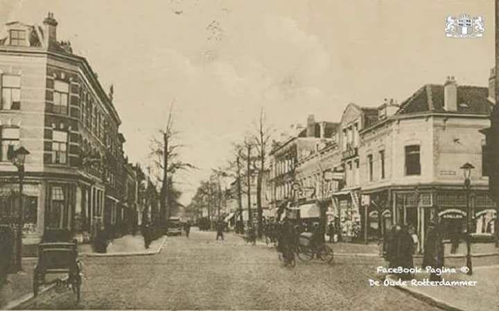 Zwart Janstraat Gezien Vanaf De Noordmolenstraat Ter Hoogte Van De Jacob Catsstraat 1920