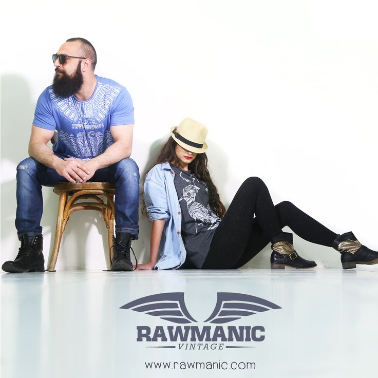 Loving these NEW Cotton tees by Rawmanic! Their NEW VINTAGE Line is Awesome!  Shop their look by clicking on the following link; http://rawmanic.com/vintage/