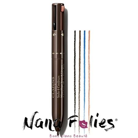 Clarins maquillage Stylo 4 couleurs- 39.00€ #clarins #stylo #maquillage #makeup #new #original #bonplan #yeux #levres #liner #smoky