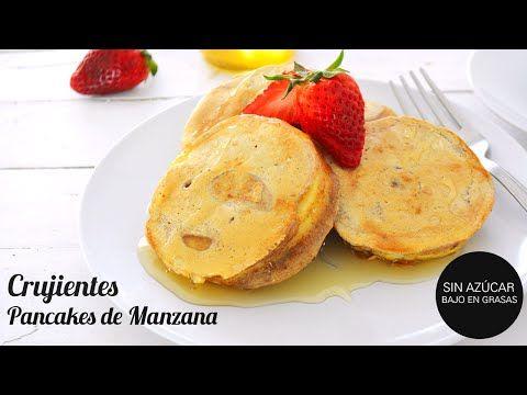 Desayuno Saludable: Pancakes de manzana crujientes (SIN AZÚCAR, SIN GRASAS) - YouTube - Postres Saludables
