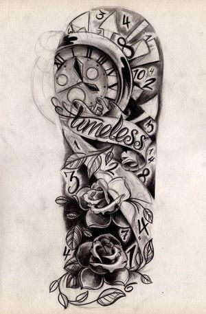 Designs Black And Grey Half Sleeve Tattoo Custom Tattoos by João Santos