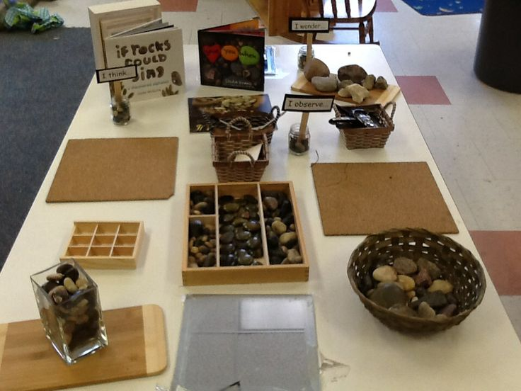Our rock provocation....inspired when a student brought in a few rocks for our nature collection.