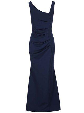 Lipstick Boutique - Tmavě modré dlouhé šaty  Veronica - 1