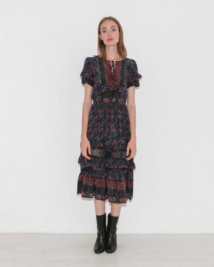 Asymmetric Tiered Dress by Sea NY