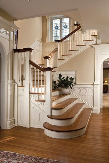 The Staircase At Estalena, A Recently Restored 1896 Georgian Stone Home In  Haverford. Part 39