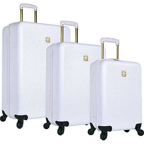 New Trending Luggage: Anne Klein Aurora 3 Piece Hardside Spinner Luggage Set, White. Anne Klein Aurora 3 Piece Hardside Spinner Luggage Set, White  Special Offer: $299.99  211 Reviews A fun and distinctive Anne Klein hard side luggage set that is ideally suited to take you on weekend getaways and longer travel adventures.Durable, brushed stroke textured ABS body gives...