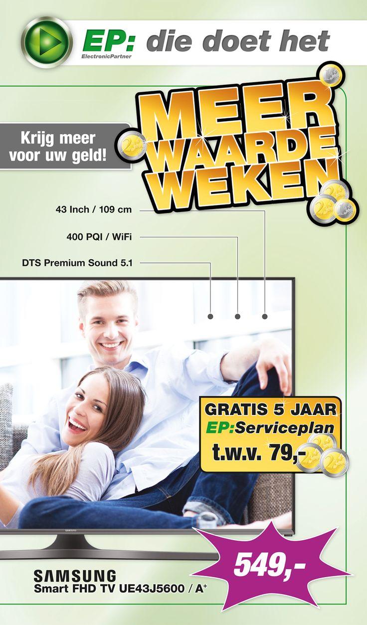 Week 39 van onze spectaculaire E-Poster is online! Met in de actie van deze week: Samsung Smart FHD TV UE43J5600! (1/2)