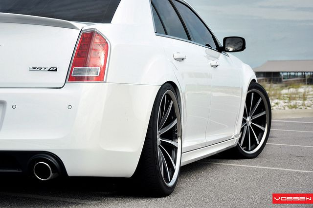 Chrysler 300 SRT8 - Matte Black Machined Rims by VossenWheels, via Flickr  http://www.sidecaragency.com