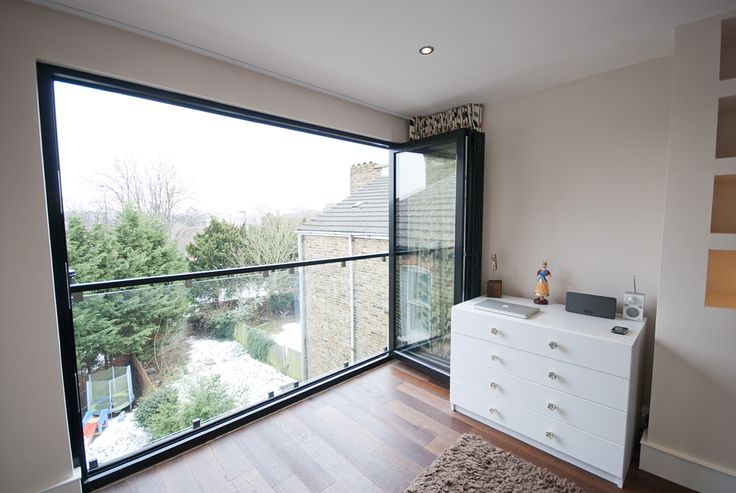 bi fold doors fully open in a loft conversion NW london