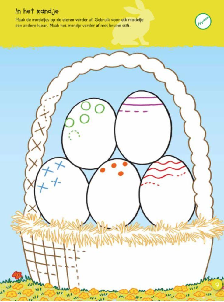 mand met eieren Patronen op eieren