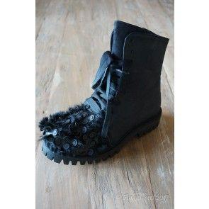 Ankleiderei AW17 Papucei Schnürstiefelette Morbucks Black