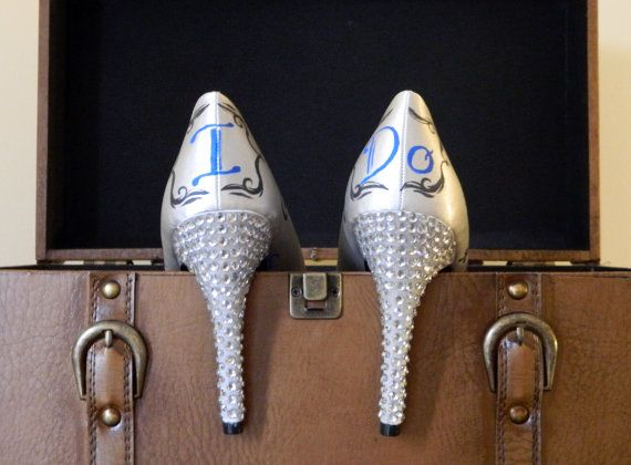 Unique Wedding Shoes Fully Customized with by CatherineLaPointe