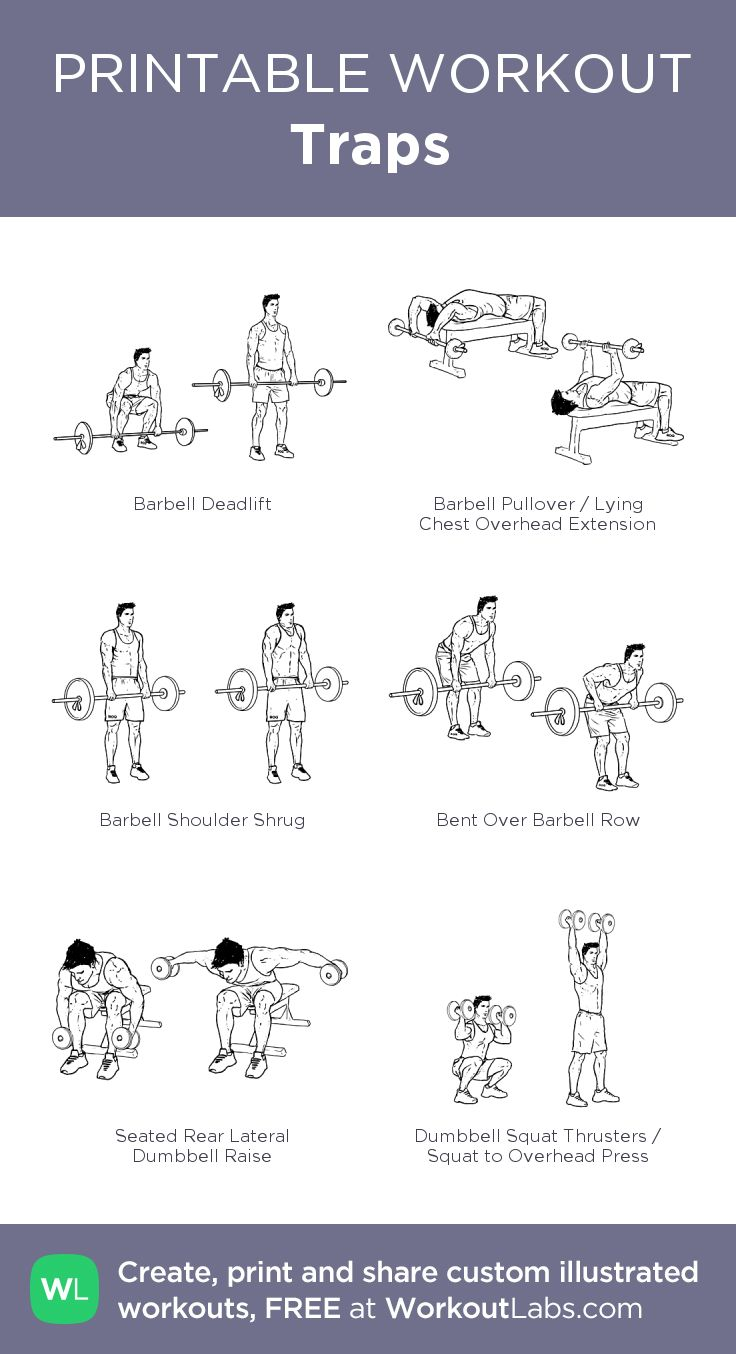 Traps My Visual Workout Created At Workoutlabs Com Click Through To Customize And Download As Traps Workout Shoulder And Trap Workout Traps Workout At Home