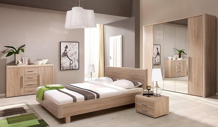 Furniture to the big bedroom in pleasant light colours. Sale% Meble do dużej sypialni w przyjemnych, jasnych kolorach. Promocja% #bedroom #bed #lightfurniture #helvetia #mirjan24 #sale