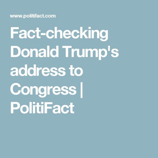 Fact-checking Donald Trump's address to Congress | PolitiFact