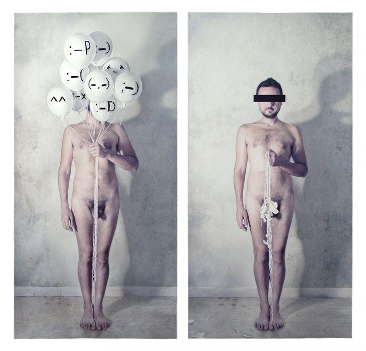 Elisa Anfuso - Face(boom!) Olio e pastelli su carta, cm 70x70, 2011 (Milano Producing censorship, 2011)