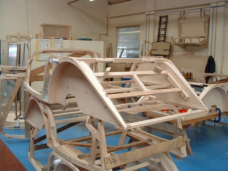 Ash frames for the Classic range, Morgan Factory, Malvern, Worcestershire