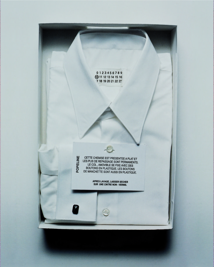 maisonmartinmargiela:  Autumn-Winter 2002 - Maison Martin Margiela Menswear Shirt description & care instructions.