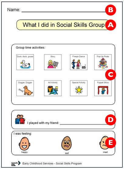 Connect ability social skills lessons for students.  geared toward those functioning on a 4-6 y.o. social level.