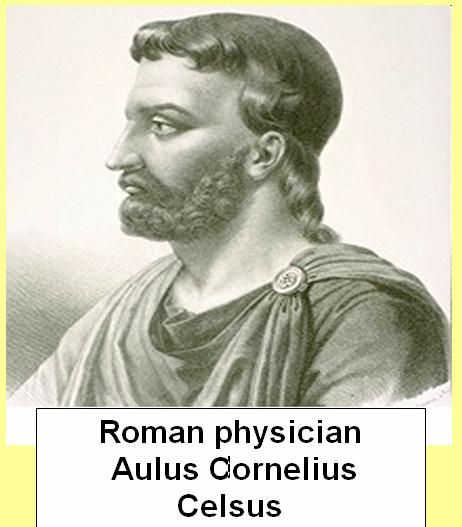 """Aulus Cornelius Celsus (c. 25 BC – c. 50 AD) was a Roman encyclopaedist, known for his extant medical work, De Medicina. The De Medicina is a primary source on diet, pharmacy, surgery and related fields, and it is one of the best sources concerning medical knowledge in the Roman world. Hippocrates used the Greek word carcinos, meaning crab or crayfish, to refer to malignant tumors. It was Celsus who translated the Greek term into the Latin """"CANCER"""", also meaning crab."""