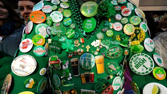 Elaborate costumes are standard for St Patrick's Day celebrations
