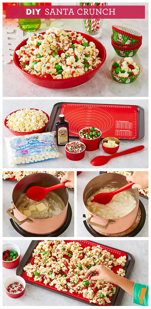 Try this fun Santa Crunch recipe with the kids this year!