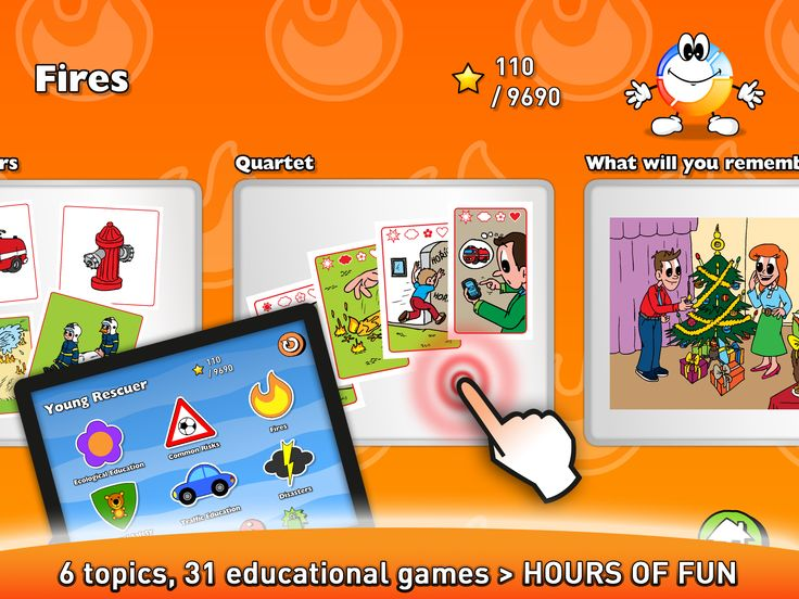 6 topics, 31 educational games > hours of fun