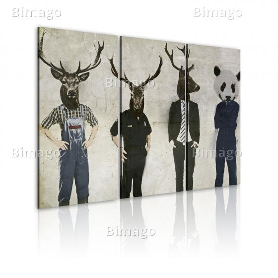 Quadro Anche l'uomo e' un animale, animal heads canvas art
