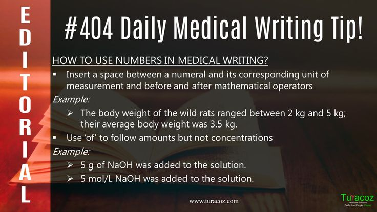 #TuracozHealthcareSolutions updates on how to correctly denote numeral and its corresponding unit in #MedicalWriting.