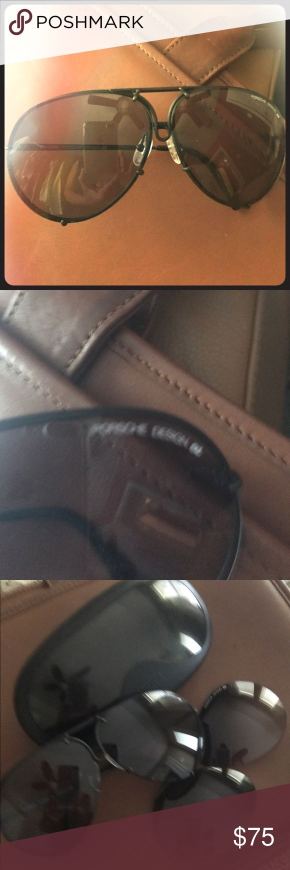 Porsche Sunglasses Great condition Includes extra lenses (never used) and case which has scratches PORSCHE Accessories Glasses